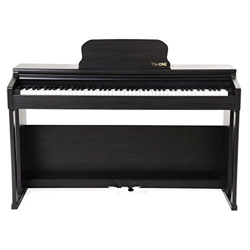 The ONE Smart Piano TOP1 88-Key Home Digital Piano with Graded Hammer Action, Upright – Matte Black