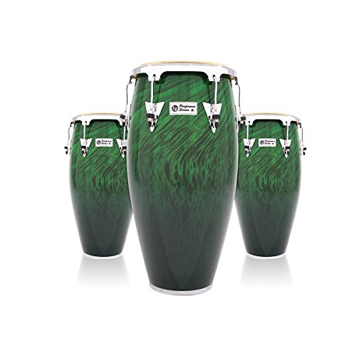 LP Performer Series 3-Piece Conga Set with Chrome Hardware Green Fade