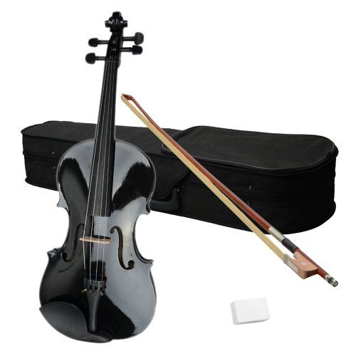 Olymstore(TM) 15-Inch Wood Acoustic Viola with Case, Bow and Rosin Black