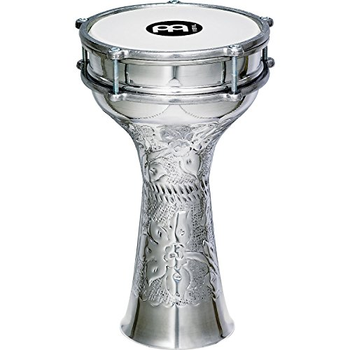 Meinl Percussion HE-113 Hand Hammered Aluminum Darbuka With Synthetic Head, 7.25-Inch