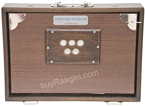 MKS Concert Shruti Box – Teak Wood – Walnut Color – 13 Drone (PDI-BAG)
