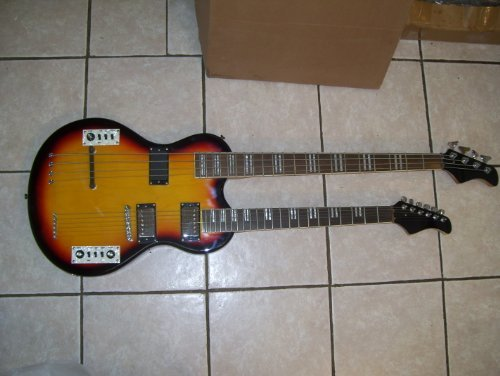 Double neck Electric guitar and bass guitar, 4 and 6 string