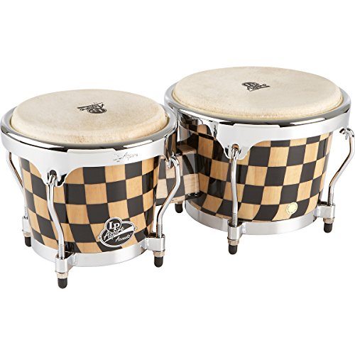 LP Aspire Accents Series Bongos Checker Board