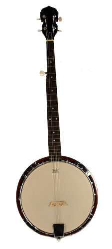 5-String BANJO – REMO Head 38″ TRADITIONAL BLUEGRASS Solid Sepele Wood