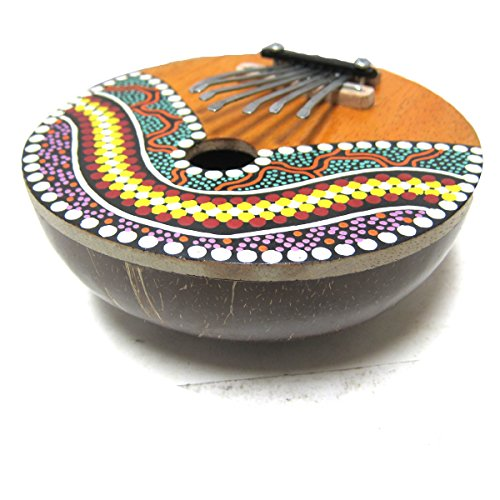 Kalimba Thumb Piano – 7 keys – Tunable – Coconut Shell – Painted
