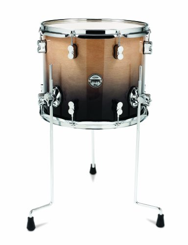 Pacific Drums PDCB1214TTNC 12 x 14 Inches Tom with Chrome Hardware – Natural to Charcoal Fade