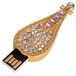 16GB Small Lute Style Metal Retractable USB Flash Disk