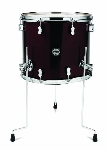 Pacific Drums PDCM1416TTTC 14 x 16 Inches Floor Tom with Chrome Hardware – Transparent Cherry