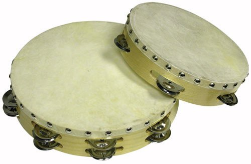 Cannon UPTAMB10D16H 10-Inch Double 16PRS Tambourine with Head