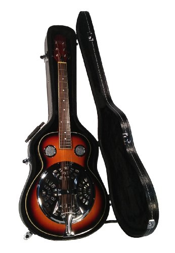 Resonator Guitar in Hard Case Acoustic-electric Steel Pan Sapele Bluegrass Blues