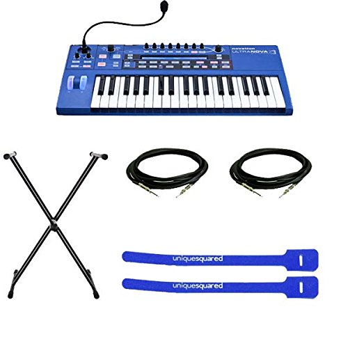 Novation UltraNova 37-Key Analog-Modeling Synthesizer with Keyboard Stand, Instrument Cables & Cable Ties