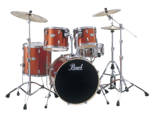 Pearl Vision VSX925F/C444 Drum Kit, Orange Sparkle (Cymbals Not Included)