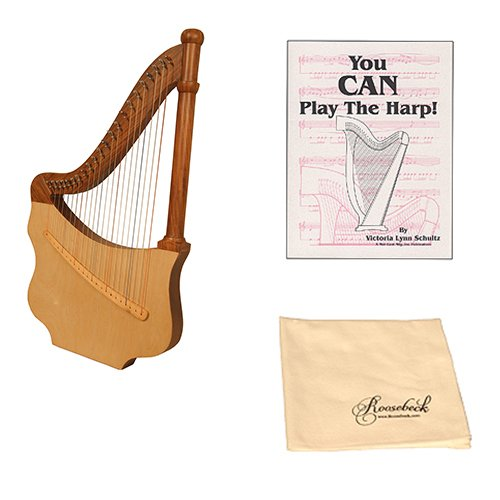 Roosebeck Lute Harp Deluxe Package w/Book, and Polishing Cloth