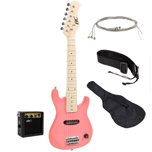 30″ Kids Pink Electric Guitar with Amp & Much More Guitar Combo Accessory Kit