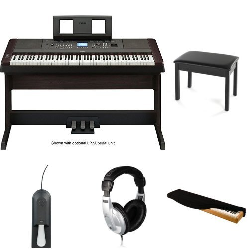 Yamaha DGX650B Digital Piano with Bench, Headphones, Case, and Sustain Pedal