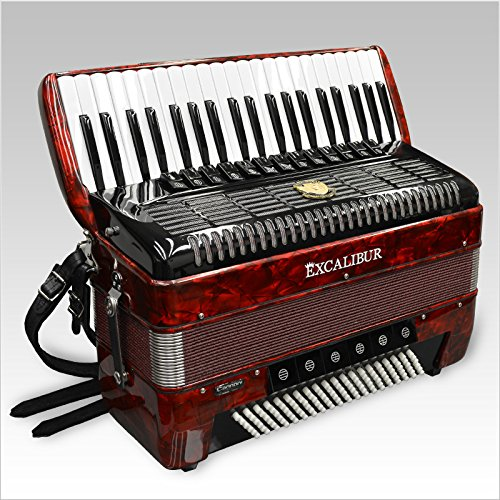 Excalibur German Weltbesten UltraLite 120 Bass 13 Switch Piano Accordion – Red