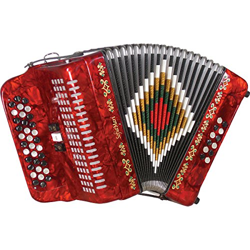 SofiaMari SM-3412 34-Button 12-Bass Accordion GCF Red Pearl
