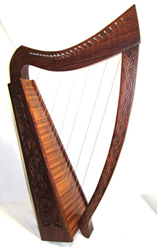36 Inch Tall 22 String Harp Extra Strings free Tuning Key and Carrying case