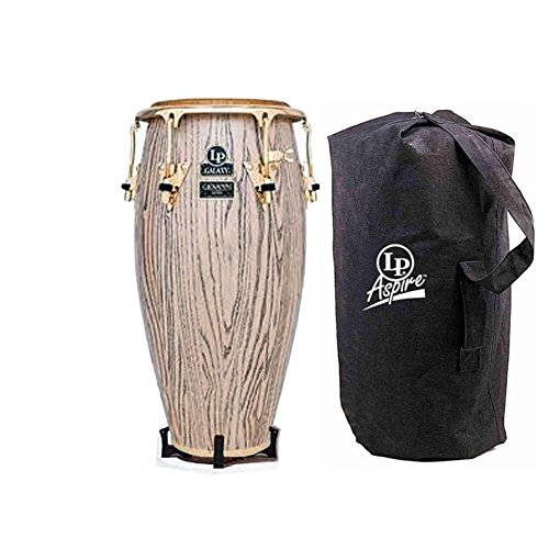 Latin Percussion LP Galaxy Giovanni Series 11″ Wood Quinto, Gold Hardware (LP805Z-AW) – Set Includes: Accessory Pouch, Tuning Wrench, LP Lug Lube & LP637 Conga Feet