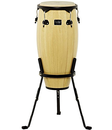 Schalloch Percussion 50.011NT 11-Inch Wood Conga with Stand, Natural