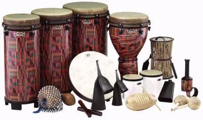 World Music Drumming Package C (with Standing Ngoma Drum)