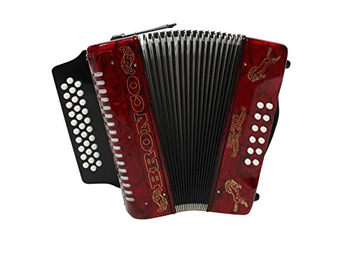 Rizatti Bronco RB31GR Diatonic Accordion – Red – Key G/C/F