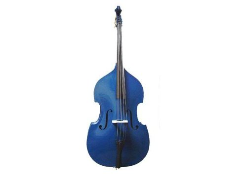 GRACE 1/4 Size Blue Upright Double Bass with Bag,Bow,Bridge+Free Rosin