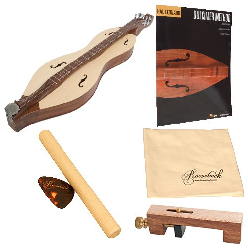 Roosebeck Grace Mountain Dulcimer 5-String Vaulted Fretboard Spruce Soundboard F-Holes Deluxe Package w/Accessories