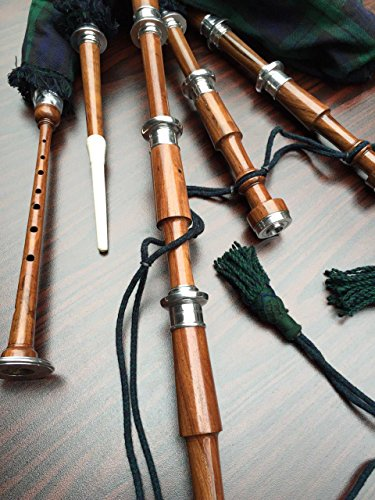 Scottish Highland Rosewood Bagpipe With Free Practice Chanter