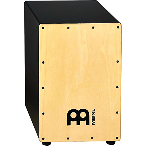 Meinl Percussion MCAJ100BK-MA Headliner Series Snare Cajon with MDF Body & Maple Frontplate