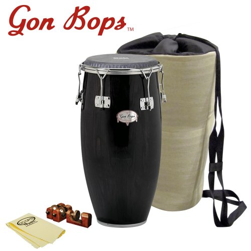 Gon Bops AA1225SE-KIT-1 Alex Acuna Special Edition 12.25-Inch Tumba with Universal Conga Risers, Polish Cloth and Carrying Bag