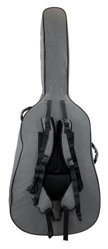 Tom and Will 46BS34-315 Upright Double Bass Gig Bag Case 3/4 Size, Grey