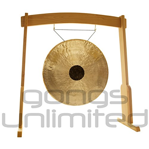32″ Chocolate Drop Gong on the Meinl Gong/Tam Tam Wood Stand (TMWGS-L)