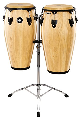 Meinl Percussion MCC-SET-NT Marathon Classic Series Conga Set with Stand, Natural Finish