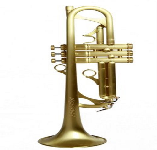 Phaeton PHT-2030 Professional Bb Trumpet, Clear Lacquer Protective Coated Brushed Brass