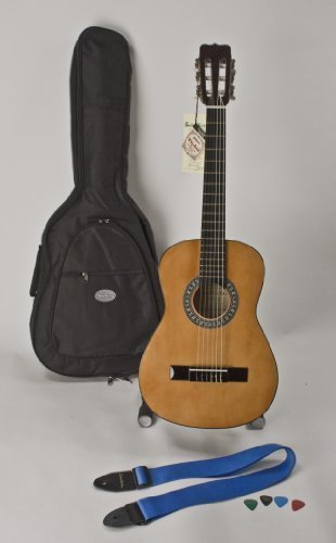 1/2 Size 34″ Left Handed Nylon String Guitar, Much Higher Quality, Includes Strap, Picks & Case Great For Children 5-8 Completely Set-up In My Shop For Easy Play Free U.S. Shipping
