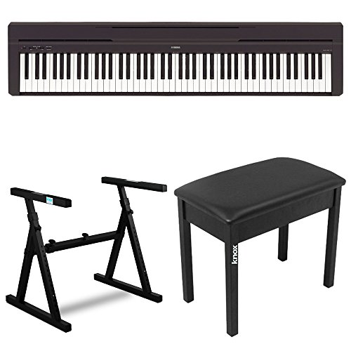 Yamaha P45B 88 Key Digital Piano with Knox Z Style Keyboard Stand and Piano Bench