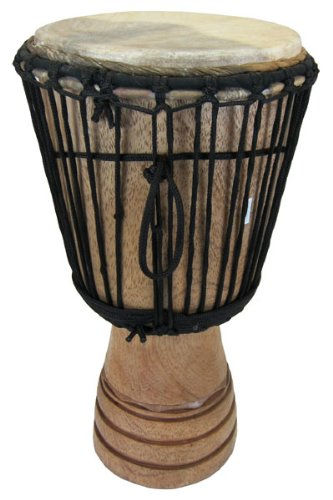 Hand-carved Djembe Drum From Africa – 11″x22″ Classical Heartwood Djembe