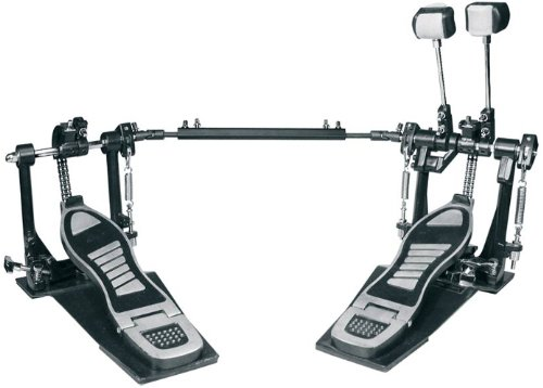 Bass / Kick Drum Pedal: Double Pedal, Double Chain Drive with Double Spring Recoil