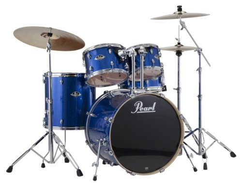 Pearl EXX725/C 5-Piece Export Standard Drum Set with Hardware – Electric Blue Sparkle (Cymbals Not Included)