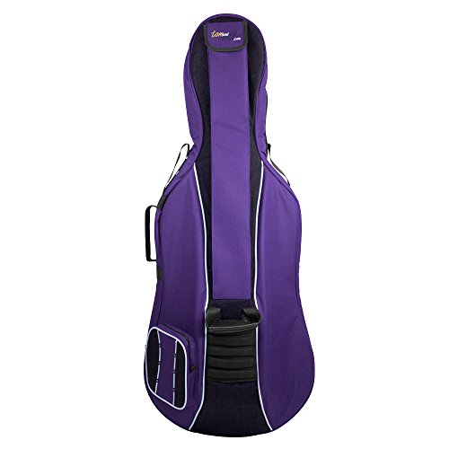 Tom & Will 41VC44-615 Cello Gig Bag, Classic Series in Purple with Black Trim, 4/4 Full Size