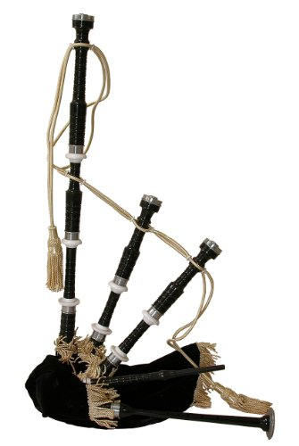 Roosebeck Bagpipe, Rosewood with Black Cover, Black Finish, Full Size (Package Of 3)
