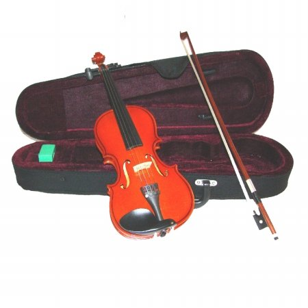 Merano MV100 4/4 Full Size Student Violin with Case and Bow+Extra Set of Strings, Extra Bridge, Rosin, Pitch Pipe
