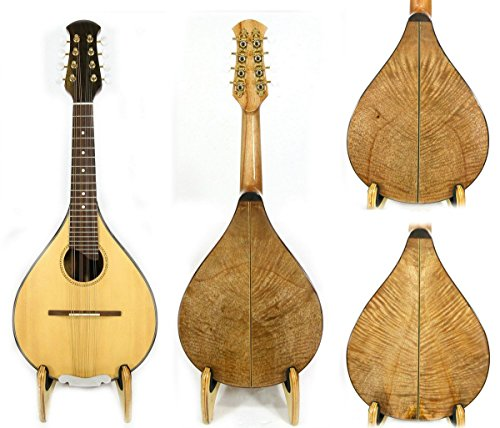 Alulu Solid A Style Flat Back Mandolin. Solid Spruce Front & Solid Curly Mango Wood Backboard. Germany Optima String. No Two Mandolins Are Alike. Including One Soft Bag