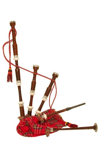 Roosebeck Bagpipe, Rosewood with Synthetic Bag and Tartan Cover, Full Size (Package Of 3)