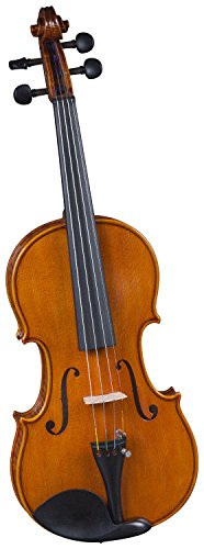 Cremona SV-600 Premier Artist Violin Outfit Full Size, Highly Flamed Body, Varnish Finish, Dominant Strings