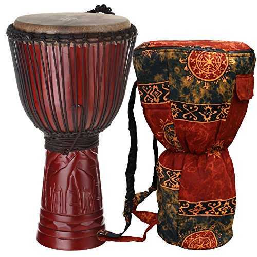 X8 Drums X8-DJ-GIR-M-BAG Safari Series Giraffe Djembe with Bag