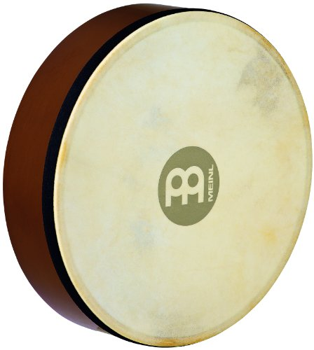 Meinl Percussion HD10AB 10-Inch Rubber Wood Hand Drum With Goat Skin Head, African Brown