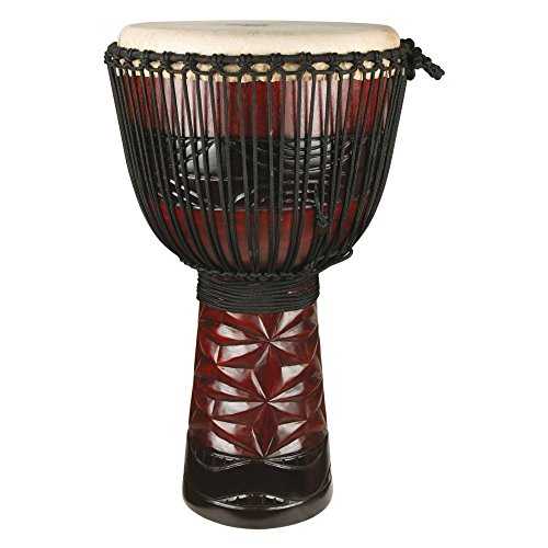 X8 Drums Original Ruby Professional Djembe, Full-Size 13.5 x25.5