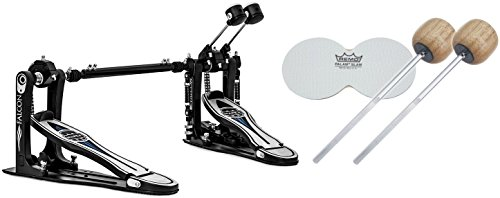 Mapex PF1000TW Falcon Double Bass Drum Pedal w/ Extra Beaters and Impact Patch